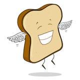 Scheibe des hellen Brotes Stockfoto