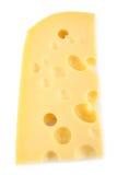 Scheibe des Käses, Gruyere Stockfoto