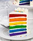 Scheibe des Kuchens. Stockfotografie