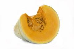 Scheibe des orange Kürbises mit Startwerten für Zufallsgenerator Stockfotografie