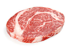 Scheibe des rohen Fleisches Lizenzfreie Stockbilder