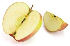 Scheibe des roten Apfels Stockfoto
