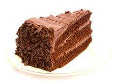 Scheibe des Schokoladenkuchens Lizenzfreies Stockbild