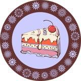 Scheibe des Vanillekuchens Lizenzfreies Stockfoto