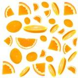 Scheibe einer Orange stockfotografie