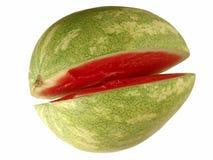 Scheibe-geöffnete Wassermelone Lizenzfreies Stockfoto