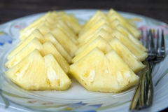 Scheibe von Ananas Stockbild