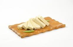 Scheiben der Bohnengallerte (Tofu) Stockfotografie