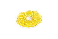 Scheiben der frischen Zitrone Stockbild
