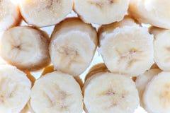 Scheiben der gefrorenen Banane Lizenzfreie Stockfotos