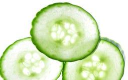 Scheiben der grünen Gurke Stockbilder