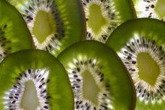 Scheiben der Kiwi-Frucht Stockbild