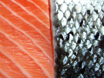 Scheiben der Lachse Lizenzfreie Stockfotografie