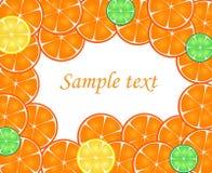 Scheiben der Orange, Zitrone, Kalk Stockbild