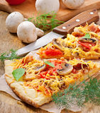 Scheiben der Pizza Stockbild
