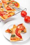 Scheiben der Pizza stockfotos