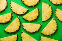 Scheiben der reifen Ananas Stockbild