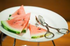 Scheiben der reifen Wassermelone Lizenzfreie Stockfotografie