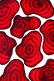 Scheiben der Rote-Bete-Wurzeln Lizenzfreie Stockbilder