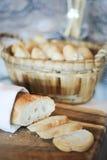Scheiben des französischen Brotes Stockbild