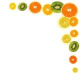 Scheiben des Hintergrundes der frischen Früchte Stockfotografie