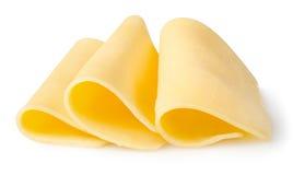 Scheiben des Käses Stockfotografie
