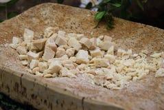 Scheiben des Käses des Schafs Lizenzfreies Stockfoto