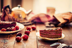 Scheiben des Kuchens Stockbilder