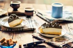 Scheiben des Kuchens Stockfoto