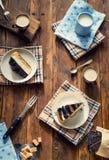 Scheiben des Kuchens Stockfotografie