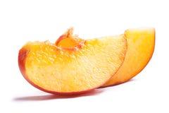Scheiben des Pfirsiches Lizenzfreies Stockbild