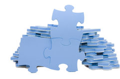 Scheiben des Puzzlespiels Stockfoto