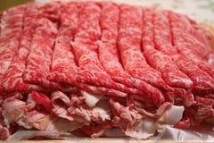 Scheiben des Rindfleisches Stockbild
