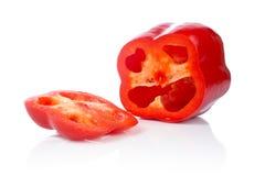 Scheiben des roten Pfeffers Stockbild