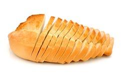 Scheiben des weißen Brotes stockfotos