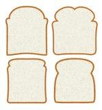 Scheiben des weißen Brotes Stockbilder