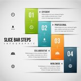 Scheiben-Stangen-Schritte Infographic Lizenzfreie Stockfotos