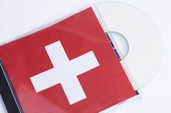 Scheiben- und CD-Kasten Stockfoto