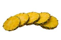 Scheiben von Ananas stockbild