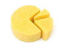 Scheiben von Käse lika ein Kreisdiagramm Lizenzfreies Stockbild