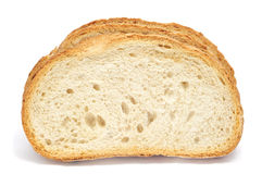 Scheiben von pan de Payes, ein rundes Brot typisch von Katalonien, Spai Stockbilder