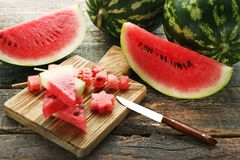 Scheiben von Wassermelonen stockfotografie