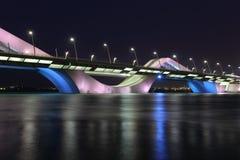 Scheich Zayed Bridge, Abu Dhabi Lizenzfreies Stockfoto