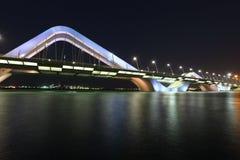 Scheich Zayed Bridge, Abu Dhabi Stockfotografie