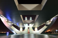 Scheich Zayed Bridge nachts, Abu Dhabi Lizenzfreie Stockbilder