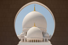 Scheich Zayed Grand Mosque Lizenzfreies Stockfoto