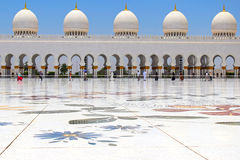 Scheich Zayed Grand Mosque Lizenzfreies Stockbild