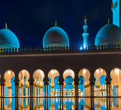 Scheich Zayed Grand Mosque Stockfotos