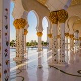 Scheich Zayed Grand Mosque stockfotos