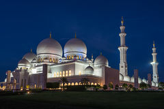 Scheich Zayed Grand Mosque in Abu Dhabi lizenzfreie stockfotos
